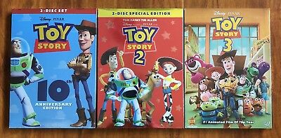 Toy Story 1, 2, and 3 Complete Trilogy Set Brand New DVDs