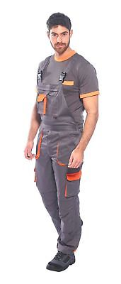 Portwest Tx12 Texo Bib Brace Contrast And Overall Coverall Work Wear ElasticBack