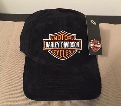 Harley Davidson Suede Leather Cap - One Size Fits All