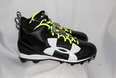 095075648126 Under Armour Mens Crusher RM Football Cleats Wide 1286600-001 Black Mens  Size 14