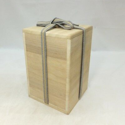 A619: Japanese wooden storage box for bottle or vase made from KIRI. SHIHO-SAN