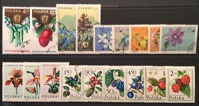 World Stamps Poland 18 Mixed Stamps Flora Exc CTO Stamps (B7-22)