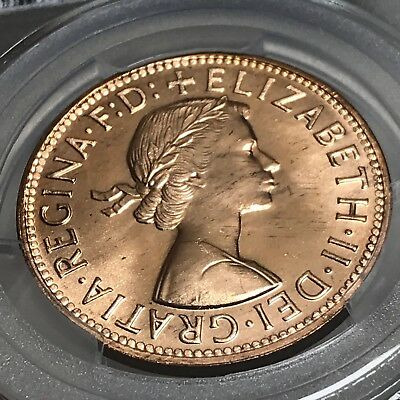 Australia 1964 (m) 1D One Penny graded MS65RD by PCGS