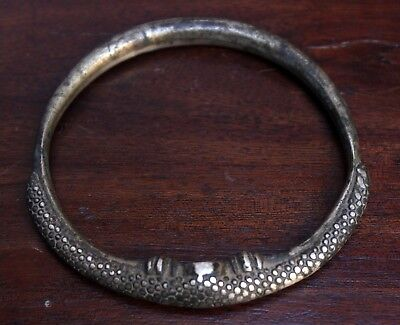Old Vintage Unique Hand Made Brass Silver Plated Lady Leg Chudi Br 478
