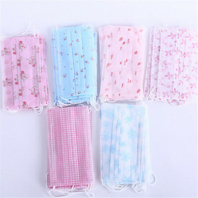 10Pcs Colorful Disposable Medical Dust Mouth Surgical Face Masks Respiratorgy Lh