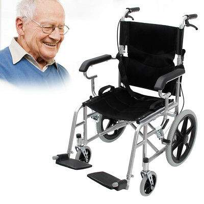 Folding Wheelchair with Brakes Folding Armrests for Dining Lightweight AU