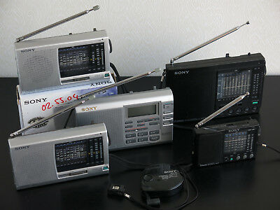 Collection (6) of SONY ICF-SW Portable Short Wave Radio's