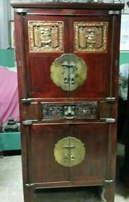 Antique Chinese Wedding Cabinet Cabinet Rustic Asian Furniture furniture