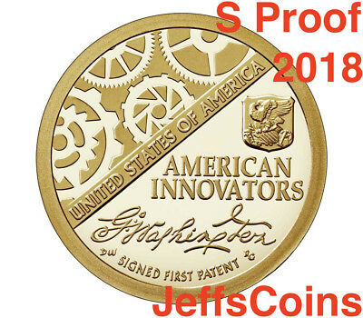 2018 S PROOF American Innovation New Golden Dollar Best Grade $1 Coin A 2019 D.P