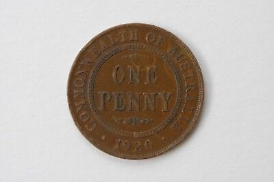 1920 Penny Commonwealth Of Australia  No Dots King George V Cond As Per Photos