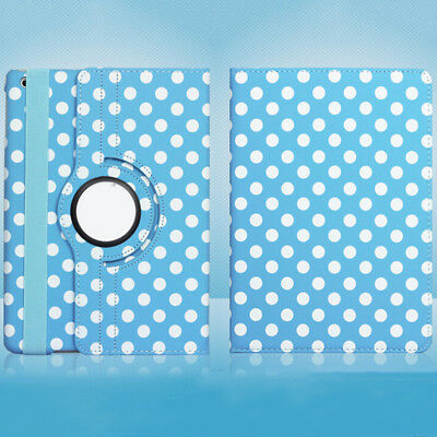 #17 360° Rotating Wake Leather Stand Case Cover For iPad Mini 1/2/3