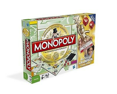 Hasbro Monopoly Championship Edition Family Board Game Toy Gift Xmas Birthday