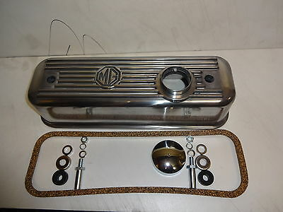 Mgb Mg Gt Alloy Rocker Cover With Cap And Fitting Bolts Washers & Gasket