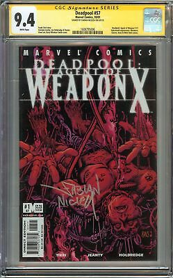 Deadpool #57 CGC 9.4 NM SIGNED SS NICIEZA Agent of WEAPON X Holiday Gift Not 9.8