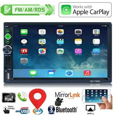 "GPS Navi 7"" HD 2DIN Touch Bluetooth Car Stereo Radio MP5 Player RDS Mirror Link"