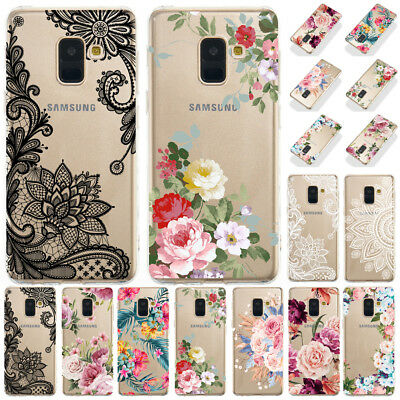 For Samsung Galaxy A7 A6 A8 Plus 2018 Slim Soft Silicone Painted TPU Case Cover
