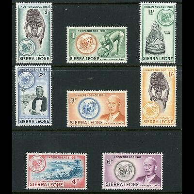 SIERRA LEONE 1961 Short Set to 1s. SG 223-230. Mint Never Hinged. (AT141)