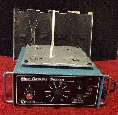 Bellco Glass Biotechnology Mini Orbital Laboratory Variable Shaker #7744-08096