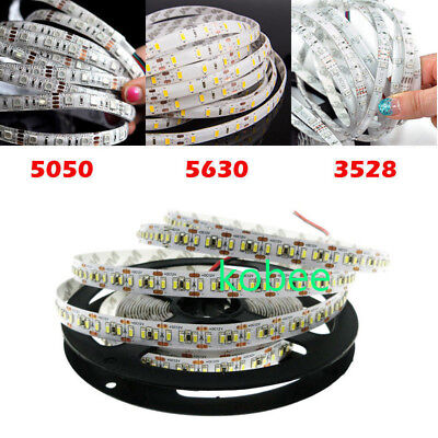 5M LED Flexible Strip Light 3528 2835 3014 5050 5630 SMD 300 600 LED Waterproof