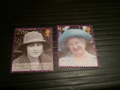 British Indian Ocean Territory 2002 Sg 267-268 The Queen Mother  Mnh