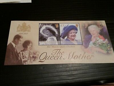 British Indian Ocean Territory 2002 Sg Ms269 The Queen Mother  Mnh