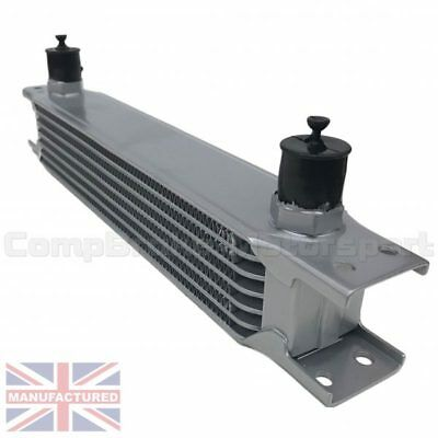 Universal 7 Row An10 An-10 10An Engine Transmission Oil Cooler [Radiator] Silver
