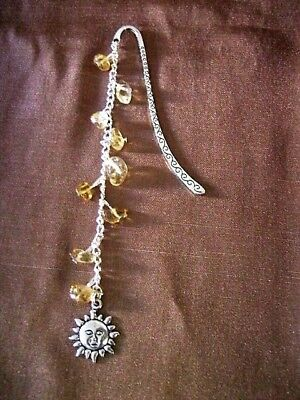 Hand Crafted Silver Style Bookmark 4} Citrine