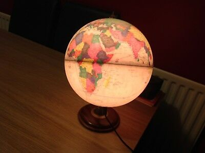 illuminated Light Up World Globe Lamp Map