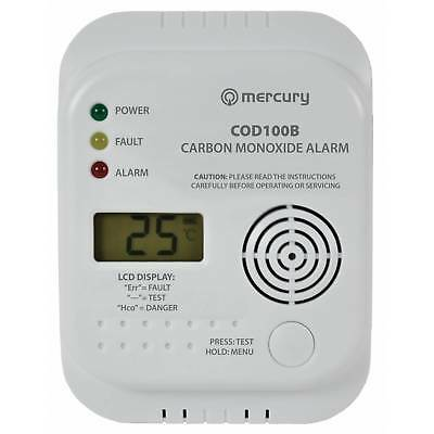 Carbon Monoxide Alarm / Detector - COD100B - CO Digital Display (7 Year Life)