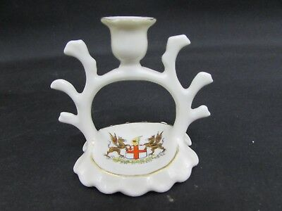 Vintage Gemma Crested Ware City Of London Crest Candle