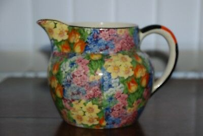 "Large beautiful multi coloured Chintz Myott vintage Jug 5""x7""."