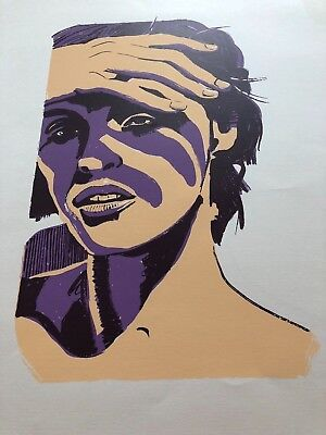 """Lithographie W. VERNOUT """"Spanish girl in the Sun"""" 1999"""