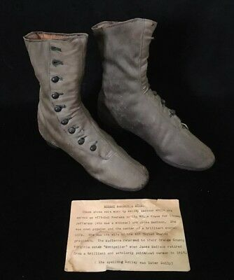 "Victorian Era Antique Vintage Late 1800's Womens Boots Shoes ""Dolley Madison"" !"