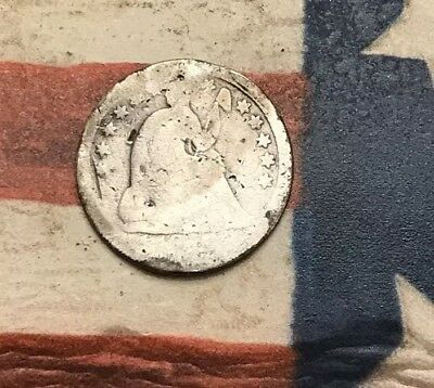 "1838-1859 ""O"" Mint 5C Seated Liberty Half Dime 90% Silver Vintage US Coin #LX85"