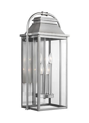 """Feiss OL13202PBS Wellsworth 4-Light 27"""" Tall Outdoor Wall Sconce"""