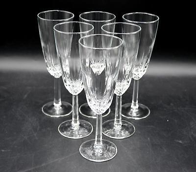 Set of 6 Beautiful Crystal Champagne/Wine Flutes - Cristal D'Arques