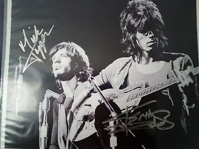 Rolling Stones Mick Jagger Keith Richards Signed 8x10 Photo Auto