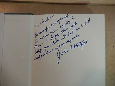 """""""Slow Walk In A Sad Rain"""" Novel Signed by Author John P. McAfee-First Edition"""