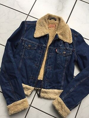 LEVIS USA DENIM Jeans Jacke coole Waschung m.Futter Used