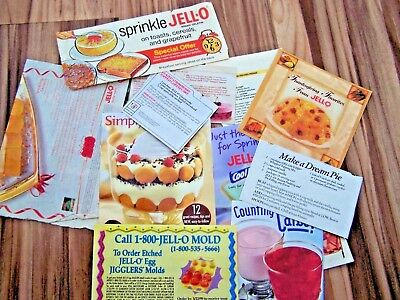 Vintage Jell-O  Lot ~~ Booklets, Pamphlets, Cards ~~ Advertising Ephemera
