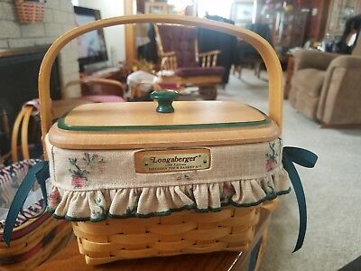 1998 Longaberger Dresden Tour II Basket  with Liner and protector and lid