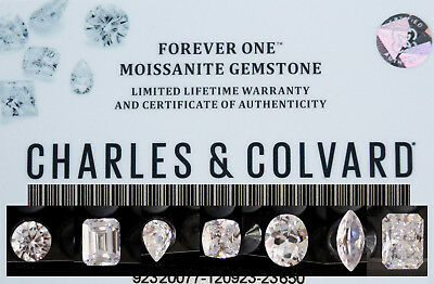 Charles and Colvard Forever One Radiant Loose DEF Moissanite with Warranty Card