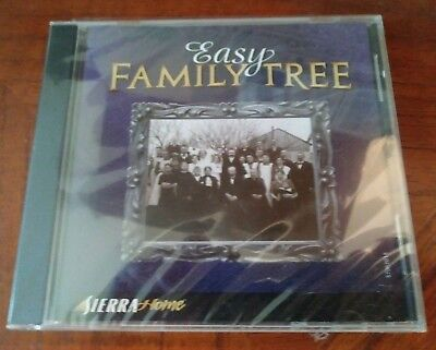 New Easy Family Tree by Sierra Home PC CD Factory Sealed Free Shipping!