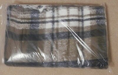c6bcb77ff8 Brown Black White Plaid Hugger Mugger Recycled Baja Yoga Blanket 70 x 75 NIP