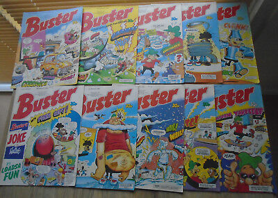 10 BUSTER Comics JAN FEB MARCH 1989. numbers on listing