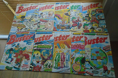 10 BUSTER Comics 1989. SEP OCT NOV numbers on listing