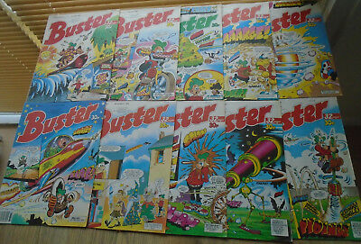 10 BUSTER Comics 1989. JUN JULY AUG numbers on listing
