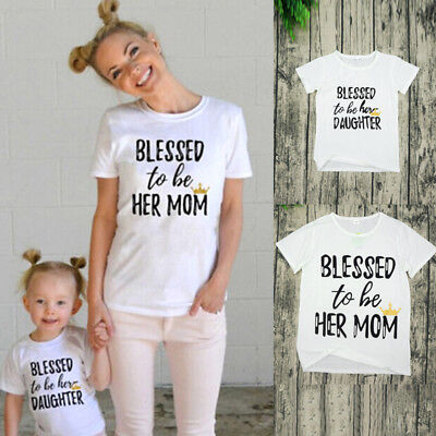 Mom  Kids Boys Girls Family Matching Clothes T-shirt Tee Tops Outfits