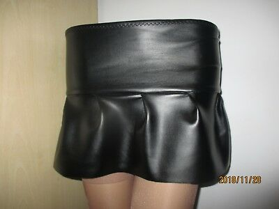 4cbfdf3a3ad PVC RUBBER LOOK Skirt Micro Mini Skirt Red Latex Faux Leather Look ...
