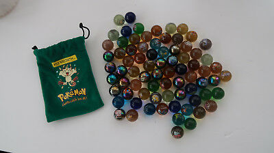 Lot of 70 Pokemon Marbles Marble Vintage assorted shooter